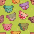 Royalty-Free Stock Vector Image: Cartoon seamless pattern made of funny bears