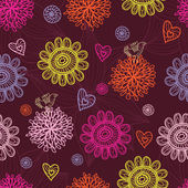 Floral seamless pattern in stylish colors — Stock Vector