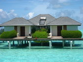 Big water bungalow — Stock Photo