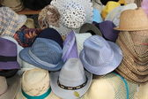 Hats in the street market — Foto Stock