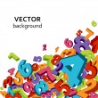 Numbers background — Vector de stock
