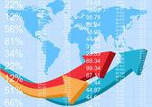 Finance report — Stock Vector