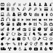 Hundred icons — Stock Vector