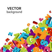Letters background — Vetor de Stock
