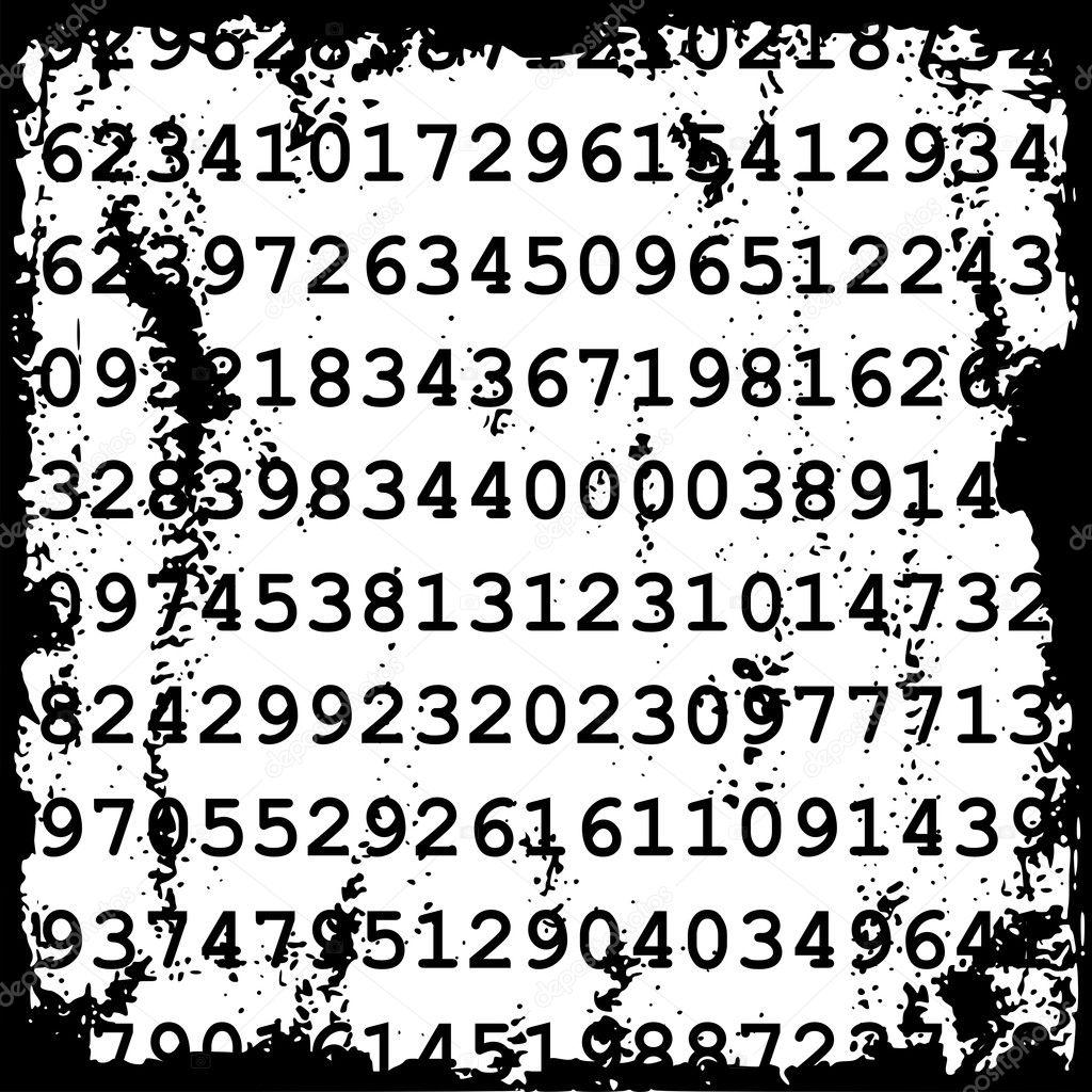 depositphotos 4159628 Numbers background Telefonun IMEI Numarasını Öğrenme