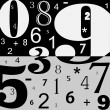 Numbers — Vector de stock #4161154