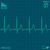 Heart monitor — Vettoriale Stock