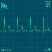 Herzmonitor — Stockvektor