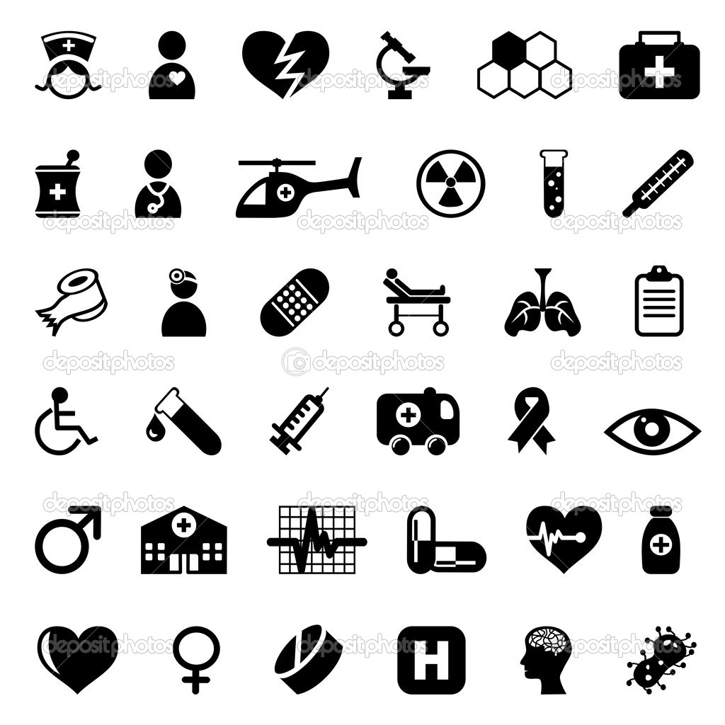 Medical icons — Stock Vector © zphoto #4160114