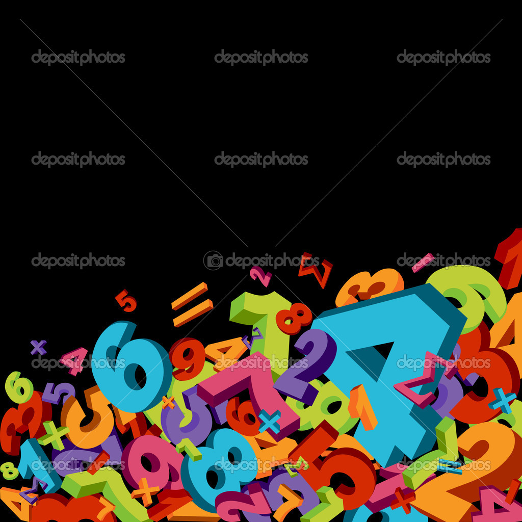 Abstract mathematics background with colorful numbers — Stock Vector #4239429