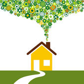 Environmentally friendly house — Stock Vector