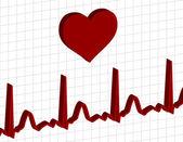 Electrocardiogram graph — Stock Vector