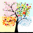 Royalty-Free Stock Vector Image: Four season tree