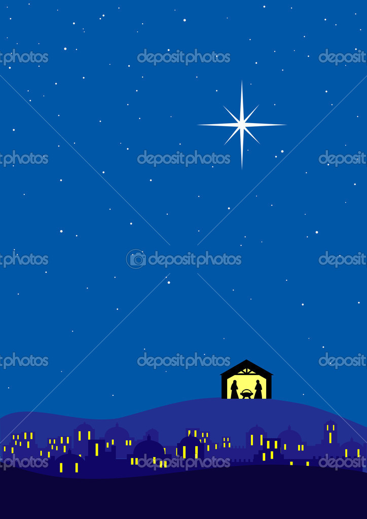 Bethlehem christmas background — Stock Vector #4445158