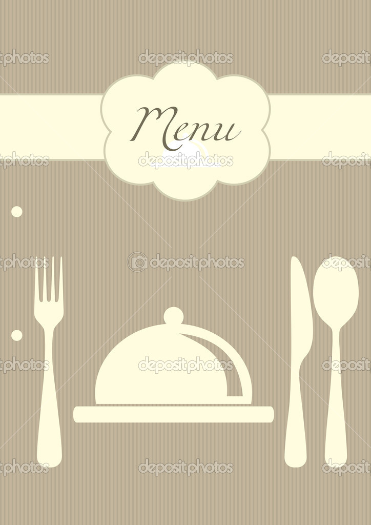 Vector restaurant menu background — Stock Vector #4486223