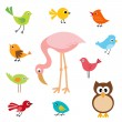 Sweet birds — Stock Vector