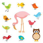 Söta fåglar — Stockvektor