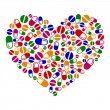 Stockvector : Heart of pills