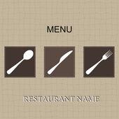 レストラン メニュー — ストックベクタ