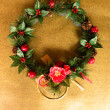 Japanese camellia wreath — Stock Photo