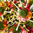 Balinese Hindu offerings — Stockfoto