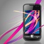 Vector smartphone&multi-color line — Stock Vector #4153039