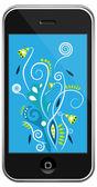 Vector smartphone&multi-color line — Stock Vector