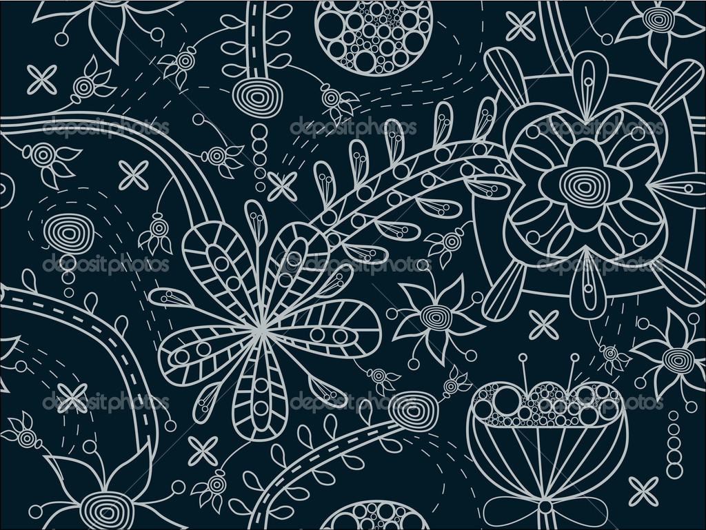 Seamless vector floral texture  Stock Vector #4425211