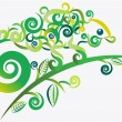 Royalty-Free Stock Vector Image: Abstract green chameleon