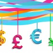 Hang currency — Stock Vector