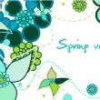 Royalty-Free Stock Vector Image: Spring card