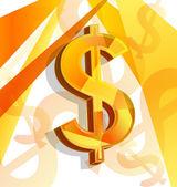 Yellow dollar — Stock Vector