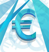 Blauwe euro — Stockvector