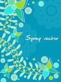 Jarní karta — Stock vektor