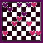 Amor, arte conceptual con corazones — Vector de stock