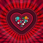 Kort med hjärta — Stockvektor