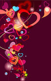 Abstract vector valentine background — Stock Vector