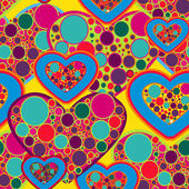 Seamless love texture — Stock Vector