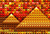 Gold piramides — Stockvektor
