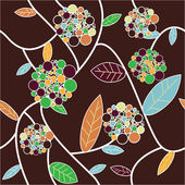Brown flowers texture — Stock Vector