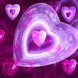 Abstract background with hearts — Stock Photo #5025737