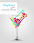 Bright cocktail — Stock Vector