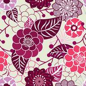Beautiful flowers texture — Stock Vector