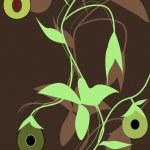 Абстрактный рисунок с авокадо — Cтоковый вектор