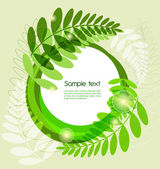 Green leafs — Vector de stock