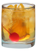 Old Fashioned on white — Stock Photo