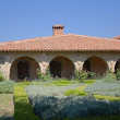 Stock Photo: Courtyard of Agios Stefanos Monastery