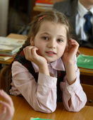 Girl at school — Stock Photo