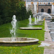 Fountains in lower park of Peterhof — Stock Photo #4245229