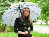 şemsiye ile kız — Stok fotoğraf